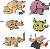 Funny rhinos Royalty Free Stock Images
