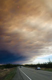 Funny River Smoke Plume over the Sterling Highway Stock Images