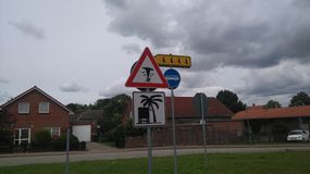 Funny Road signs royalty free stock image