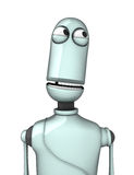 Funny Robot. 3D render of Funny Robot on white background Royalty Free Stock Photos