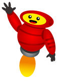 Funny robot. Illustration of funny robot with cartoon style Stock Images