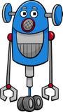 Funny robot cartoon illustration Stock Images