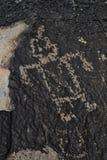 Funny Robot Petroglyph Royalty Free Stock Photos