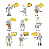 Funny robots Stock Image