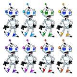 Funny robots. Royalty Free Stock Photos