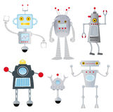 Funny robots set Stock Images
