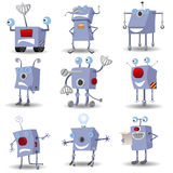 Funny robots set Royalty Free Stock Image