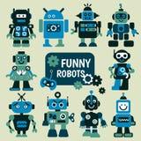 Funny robots set Stock Photo