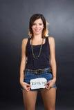 Funny rocker girl Stock Photo