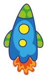Funny rocket. Vector illustration of colorful funny rocket Stock Photography