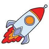 Funny rocket. Vector illustration of cute cartoon rocket for children and scrap book stock illustration
