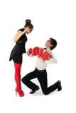 Funny romantic couple Stock Photos