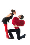 Funny romantic couple Stock Photography