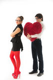 Funny romantic couple Stock Image