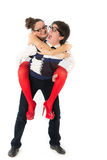 Funny romantic couple Stock Photo