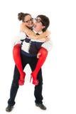 Funny romantic couple Stock Photo