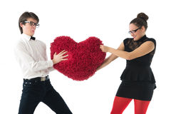 Funny romantic couple Royalty Free Stock Photos