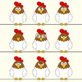 Funny rooster Stock Photo
