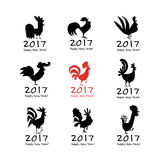 Funny Rooster, symbol of 2017 new year Royalty Free Stock Photo