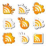 Funny rss icons set Royalty Free Stock Image