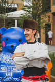 Funny Russian man at Expo 2015 in Milan, Italy Stock Image