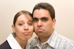 Funny sad faces Stock Images