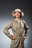 Funny safari hunter Stock Photos