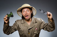 Funny safari hunter Royalty Free Stock Photography