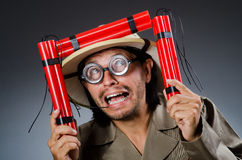 Funny safari hunter Stock Images