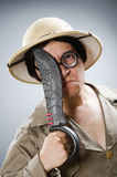 The funny safari traveller in travelling concept Royalty Free Stock Images
