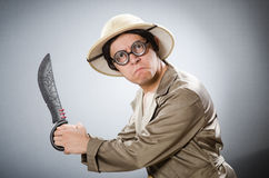 The funny safari traveller in travelling concept Royalty Free Stock Image