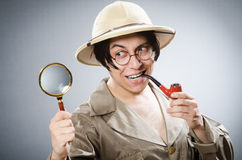 Funny safari traveller in travelling concept Royalty Free Stock Image
