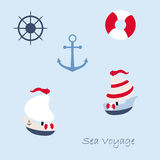Funny sailing ship Royalty Free Stock Photography