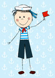 Funny sailor boy Stock Photo