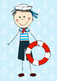 Funny sailor boy Stock Photography