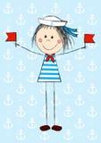 Funny sailor girl Stock Photos