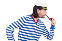 Funny sailor isolated Stock Images