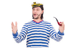 Funny sailor isolated Royalty Free Stock Photography