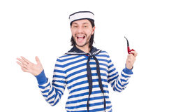 Funny sailor isolated Royalty Free Stock Images