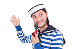 Funny sailor isolated Stock Photos