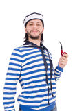 Funny sailor isolated Stock Photography