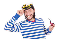 Funny sailor isolated Royalty Free Stock Photos