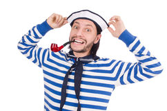 Funny sailor isolated Stock Photo