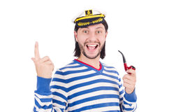 Funny sailor Stock Images
