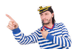 Funny sailor isolated on the white Stock Photography