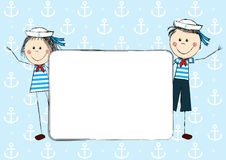 Funny sailor kids Royalty Free Stock Photo