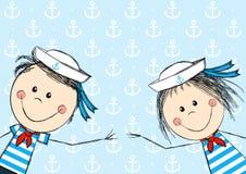 Funny sailor kids Royalty Free Stock Photos