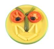 Funny salad head Stock Photos