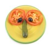 Funny salad head Royalty Free Stock Photo