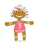 Funny sand girl ginger cookies on Christmas Day Stock Images